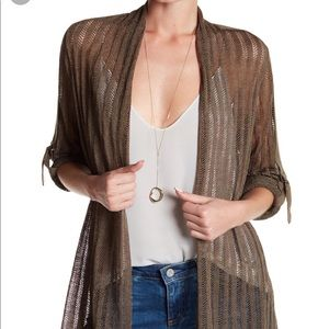 NWT Nic+Zoe cardigan NIC+ZOE Sheer Nights Cardigan